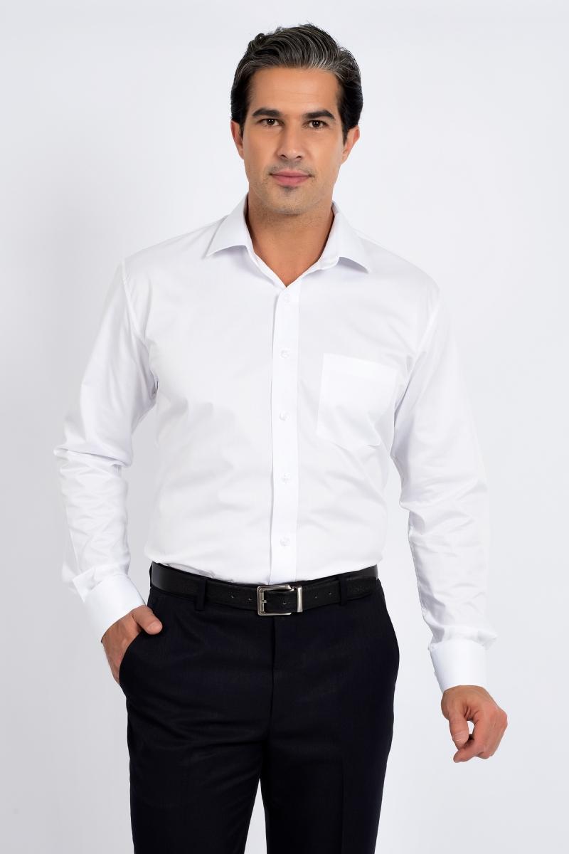 Camisa Comfort Colarinho Italiano 100% Algodão Fio 50